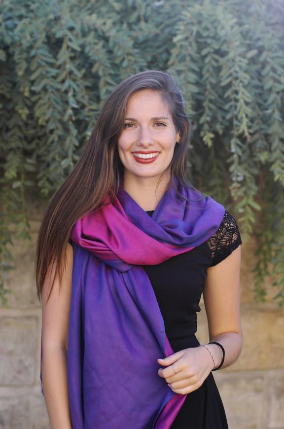 Schals aus Viskose und Seide beidseitig