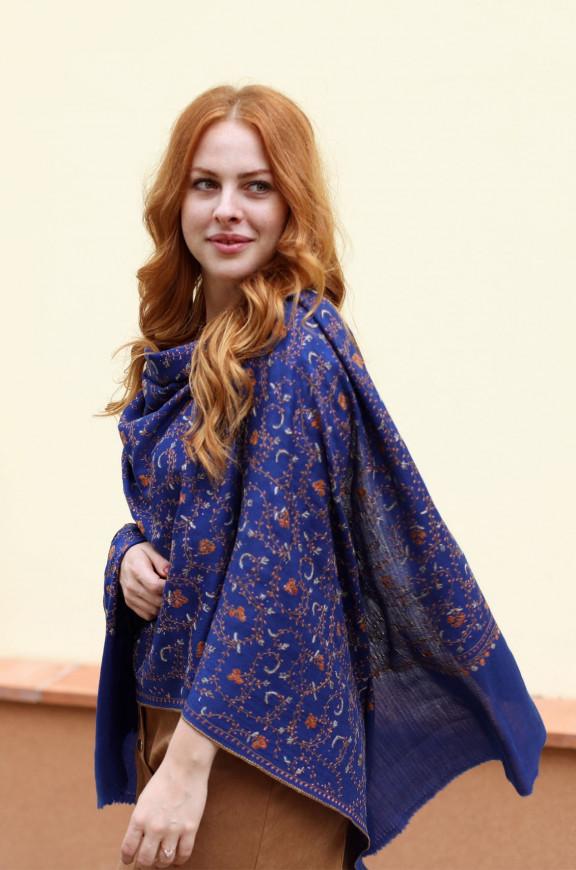 Kaschmirische Schals handgestickt